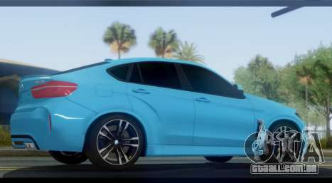 BMW X6M F86 para GTA San Andreas esquerda vista