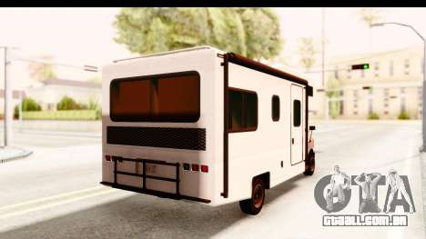 GTA 5 Camper para GTA San Andreas esquerda vista