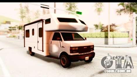 GTA 5 Camper para GTA San Andreas traseira esquerda vista