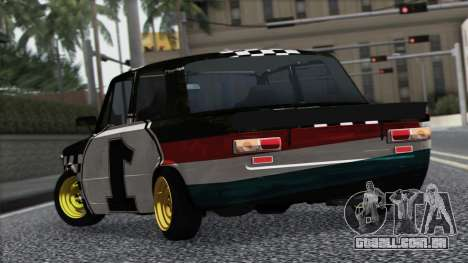 VAZ 2101 é um Carro de Corrida para GTA San Andreas vista traseira