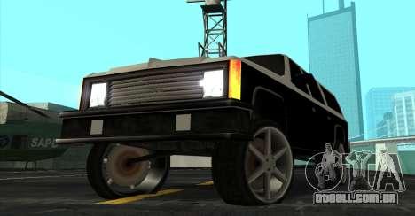 FBI Rancher Tuning para GTA San Andreas vista direita