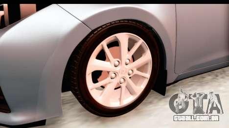 Toyota Corolla 2014 IVF para GTA San Andreas vista traseira