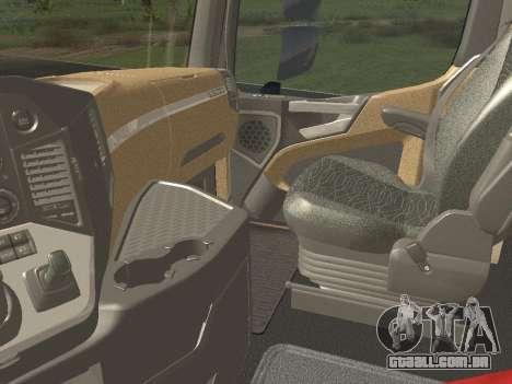 Mercedes-Benz Actros Mp4 6x4 v2.0 Bigspace para GTA San Andreas vista traseira