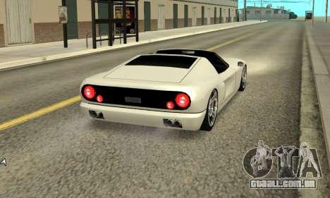Bullet Spyder para GTA San Andreas traseira esquerda vista
