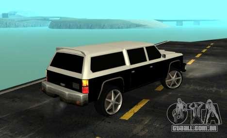 FBI Rancher Tuning para GTA San Andreas esquerda vista