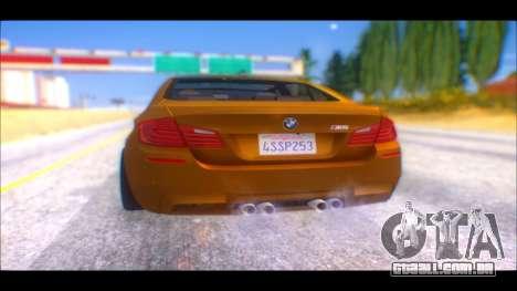 BMW M5 F10 2014 para GTA San Andreas esquerda vista