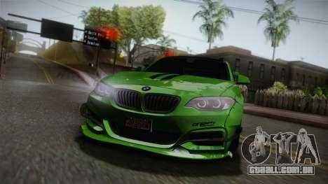 BMW M235i 69Works para GTA San Andreas vista superior