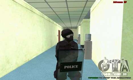 Pele SWAT GTA 5 (PS3) para GTA San Andreas nono tela