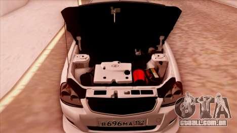 Lada Priora Autozvuk v.1 para GTA San Andreas vista traseira