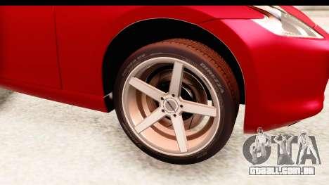 Nissan 370Z 2010 para GTA San Andreas vista traseira