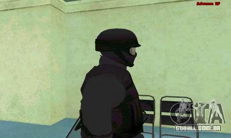 Pele SWAT GTA 5 (PS3) para GTA San Andreas quinto tela