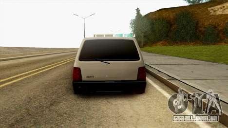 VAZ 1111 para GTA San Andreas vista traseira