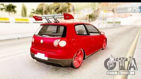 Volkswagen Golf GTI para GTA San Andreas esquerda vista