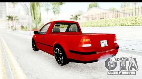 Volkswagen Golf Mk4 Pickup para GTA San Andreas esquerda vista
