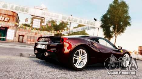 Ferrari 488 GTB 2016 para GTA 4 vista lateral