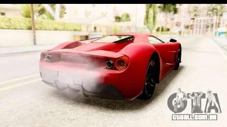 GTA 5 Vapid FMJ IVF para GTA San Andreas traseira esquerda vista