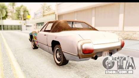 Stallion Sticker Bomb para GTA San Andreas traseira esquerda vista