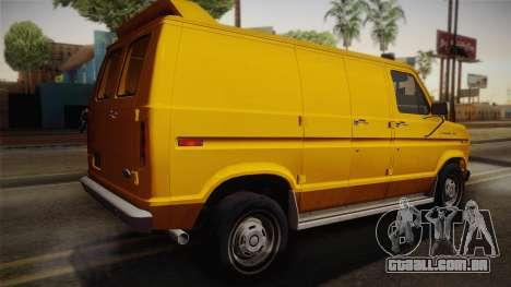 Ford E-150 Commercial Van 1982 2.0 IVF para GTA San Andreas esquerda vista