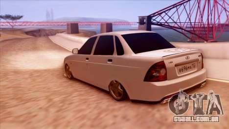 Lada Priora Autozvuk v.1 para GTA San Andreas esquerda vista