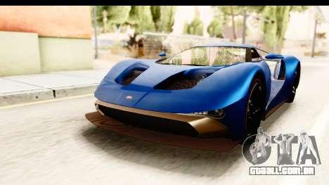 GTA 5 Vapid FMJ SA Style para GTA San Andreas traseira esquerda vista
