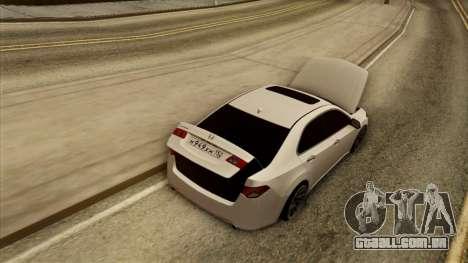 Honda Accord para GTA San Andreas vista interior