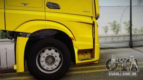 Mercedes-Benz Actros Mp4 4x2 v2.0 Gigaspace v2 para GTA San Andreas vista direita