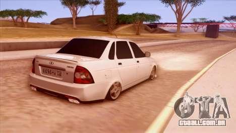 Lada Priora Autozvuk v.1 para GTA San Andreas traseira esquerda vista