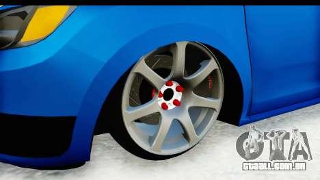 Dacia Sandero 2013 para GTA San Andreas vista traseira
