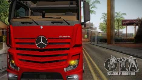 Mercedes-Benz Actros Mp4 6x4 v2.0 Bigspace para GTA San Andreas traseira esquerda vista