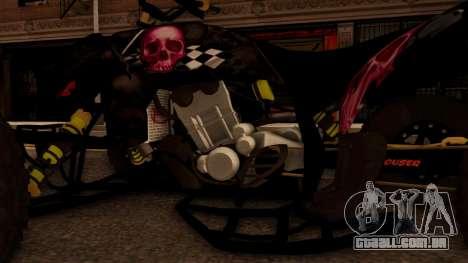 Quad Graphics Skull para GTA San Andreas vista interior