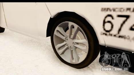 Nissan NV350 Urvan Comercial Mexicana para GTA San Andreas vista traseira