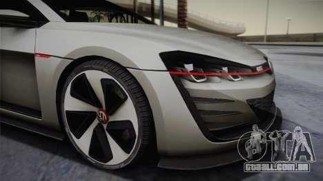 Volkswagen Golf Design Vision GTI para GTA San Andreas traseira esquerda vista