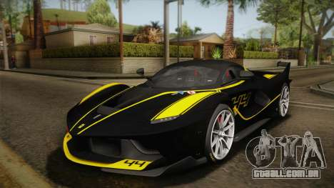 Ferrari FXX-K 2015 PJ para GTA San Andreas