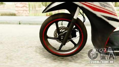 Yamaha Mio GT Standart para GTA San Andreas vista traseira