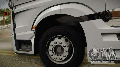 Mercedes-Benz Actros Mp4 6x4 v2.0 Steamspace v2 para GTA San Andreas vista traseira