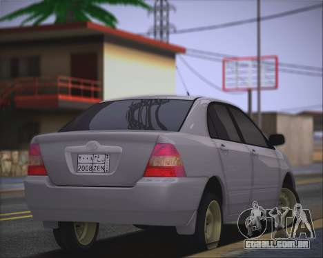 Toyota Corolla 120 para GTA San Andreas esquerda vista