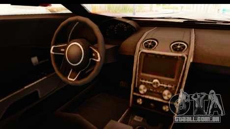 GTA 5 Vapid FMJ IVF para GTA San Andreas vista interior