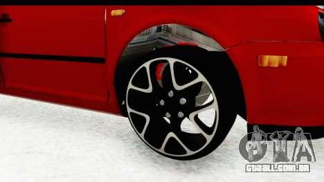 Volkswagen Golf Mk4 Pickup para GTA San Andreas vista traseira