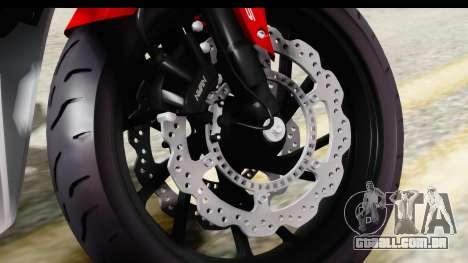 Honda CBR650F para GTA San Andreas vista traseira