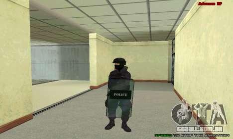 Pele SWAT GTA 5 para GTA San Andreas oitavo tela