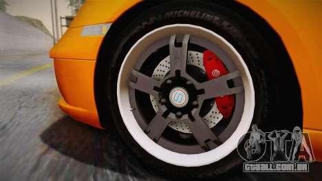 Ruf RK Coupe (987) 2007 IVF para GTA San Andreas traseira esquerda vista
