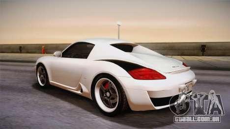 Ruf RK Coupe (987) 2007 HQLM para GTA San Andreas esquerda vista