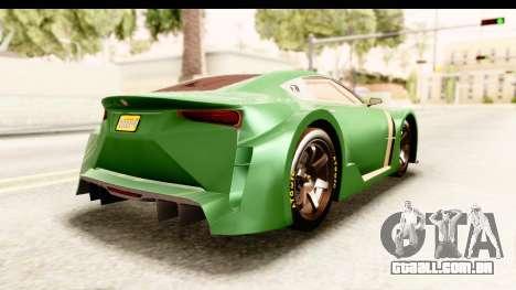 GTA 5 Emperor ETR1 para GTA San Andreas esquerda vista