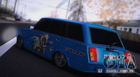 VAZ 2104 Anime para GTA San Andreas traseira esquerda vista