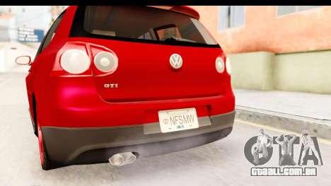 Volkswagen Golf GTI para GTA San Andreas vista superior