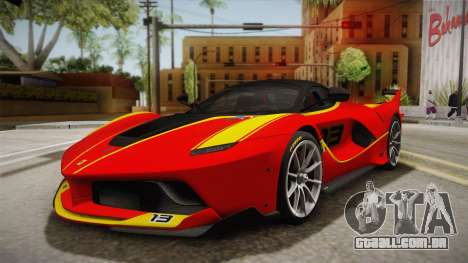 Ferrari FXX-K 2015 para vista lateral GTA San Andreas