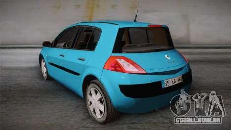 Renault Megane 2 Hatchback v2 para GTA San Andreas esquerda vista