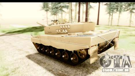 Leopard 2A4 para GTA San Andreas traseira esquerda vista