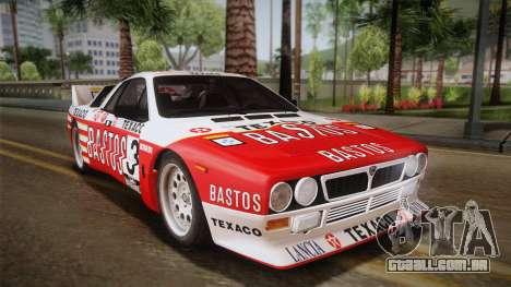 Lancia Rally 037 Stradale (SE037) 1982 Dirt PJ2 para GTA San Andreas esquerda vista