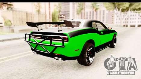 Dodge Challenger F&F 7 para GTA San Andreas vista direita